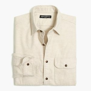 J. Crew Rugged Elbow Patch Flannel Button Down